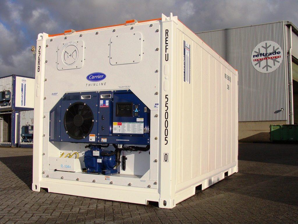 Conteneur frigorifique offshore blanc pour la gestion de stocks, conceptionreftrade