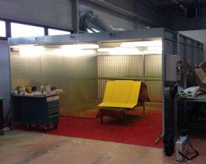 Cabine de peinture industrielle